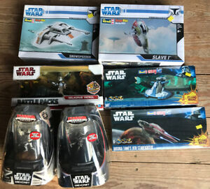 Star-Wars-Model-Kit-Bundled-Deal-Revel-Hasbro-Die-Cast-Darth-Vader-New-Sealed
