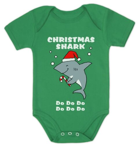 Christmas Baby Shark Doo Doo Doo Family Holiday Song Baby Bodysuit Xmas