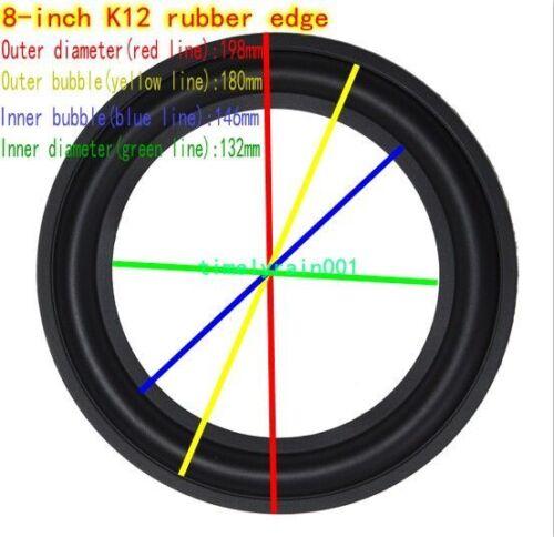 "1pcs 8/"" inch Speaker rubber Edge Speaker surround repair DIY 178C//K11//K12//178A"