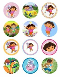 12-DORA-THE-EXPLORER-Edible-Icing-Image-Birthday-Cupcake-Decoration-Toppers-1