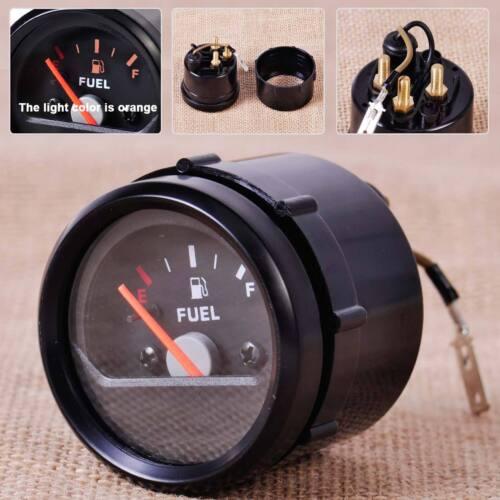 """Motorcycle 2/"""" 52mm 12V Fuel Level Gauge Meter E-1//2-F Pointer fit Honda Harley"""