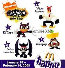 2008 McDonalds El Tigre MIP Complete Set - Lot of 4, Boys & Girls, 3+