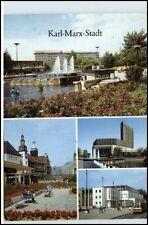 KARL-MARX-STADT CHEMNITZ 1989 DDR AK ua. Stadtbad, Stadthalle, Rosenhof, Hotel