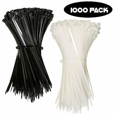 "10 USA Made TOUGH TIES 36/"" inch 175lb Nylon Tie Wraps Wire Cable Zip Ties White"