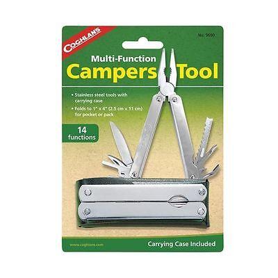 Coghlan's Camper's Leatherman Type Multi Tool- 14 Function Knife Pliers w/Case