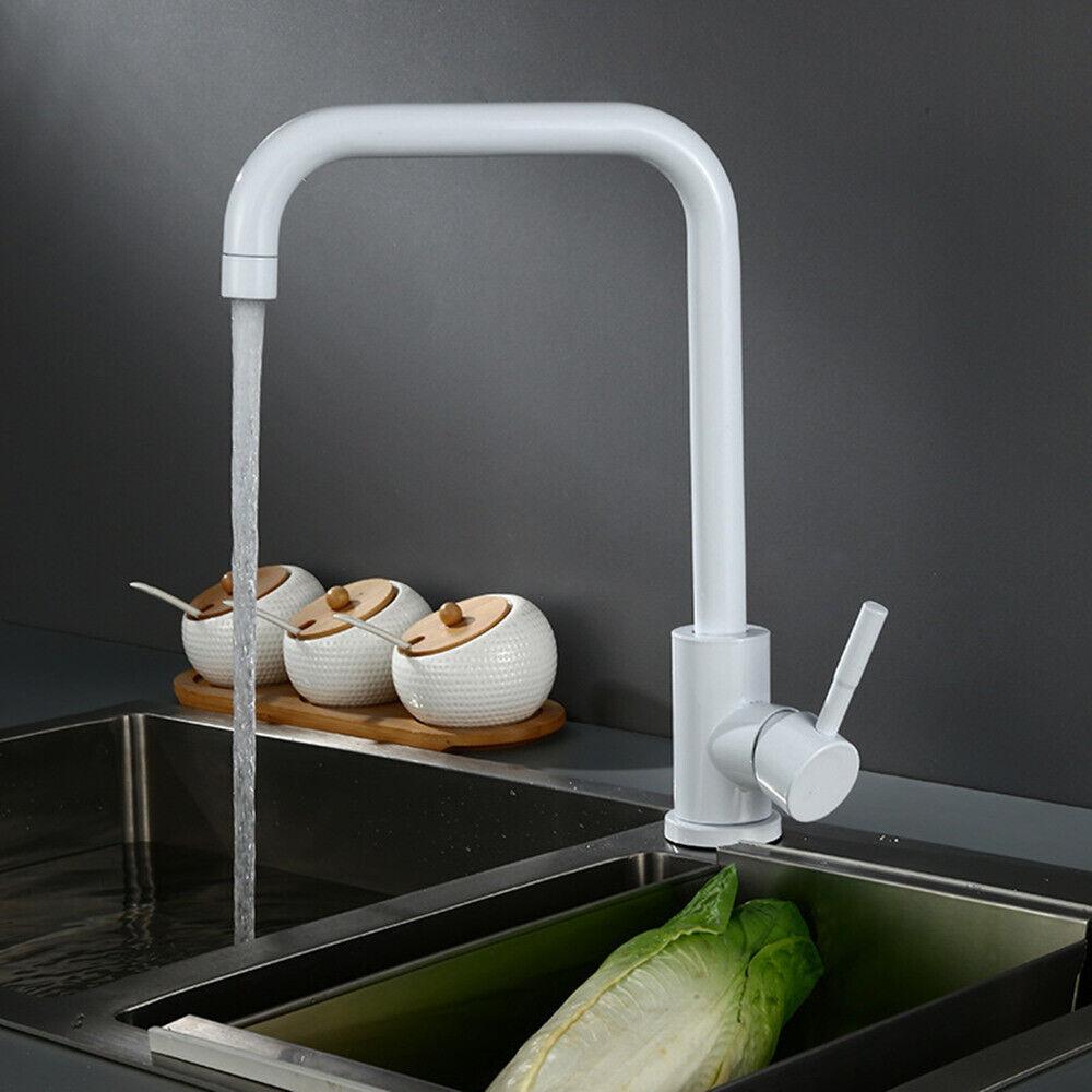 Edelstahl Wasserhahn Weiß Mischbatterie Waschtisch Küche ...