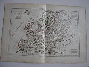 CARTE-generale-de-l-039-EUROPE-par-BONNE-carte-ancienne-1780-4a
