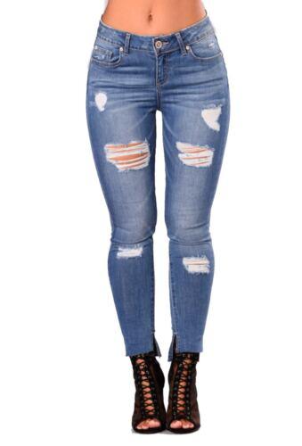 Da Donna con vita alta Blu Jeans Skinny Fit Jegging Stretch Denim Taglie 6-16