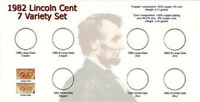 1982 Lincoln Cent 7 Variety Set, Specialty Set Holder