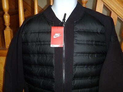 Details about NIKE TECH FLEECE AEROLOFT water repellent 800 DOWN HOODIE JACKET Men's Size L M