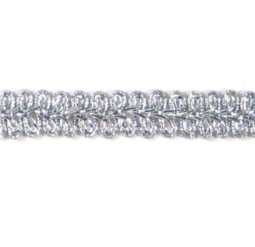 """E1901 ~   SILVER GIMP UPHOLSTERY  TRIM 1//2/"""" CHECK OUT OUR TRIMS @ GLORYS HOUSE"""
