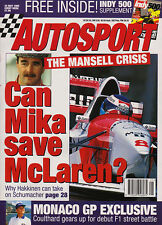 Autosport 25 May 1995 -  Ferrari F355 Spider, McLaren F1 GTR, Coulhard. Mansell