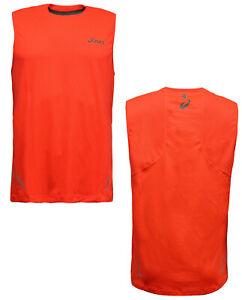 Asics Sleeveless Top Running Mens Compression Training Vest Blk 110470 0904 M10