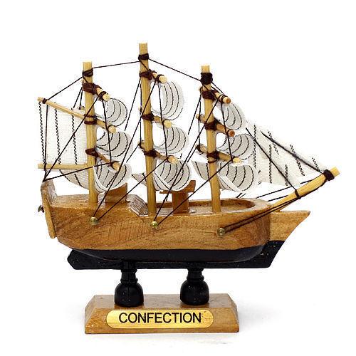 Handmade Wood Miniature Model Sailing Boat Ship Interior Decoration Wooden Aa Ebay
