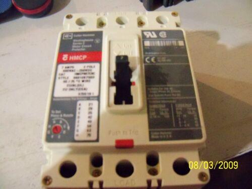CUTLER-HAMMER WESTINGHOUSE 7 AMPS HMCP HMCP007C0C MOTOR CIRCUIT PROTECTOR P7