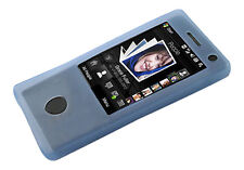 NEW Blue Silicone Case Skin for HTC Touch Diamond UK