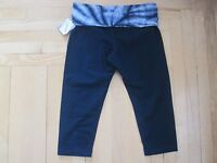 Women's Xersion Tie Dye Blue Yoga Capri Exercise Pants-size L (w32 X L20)