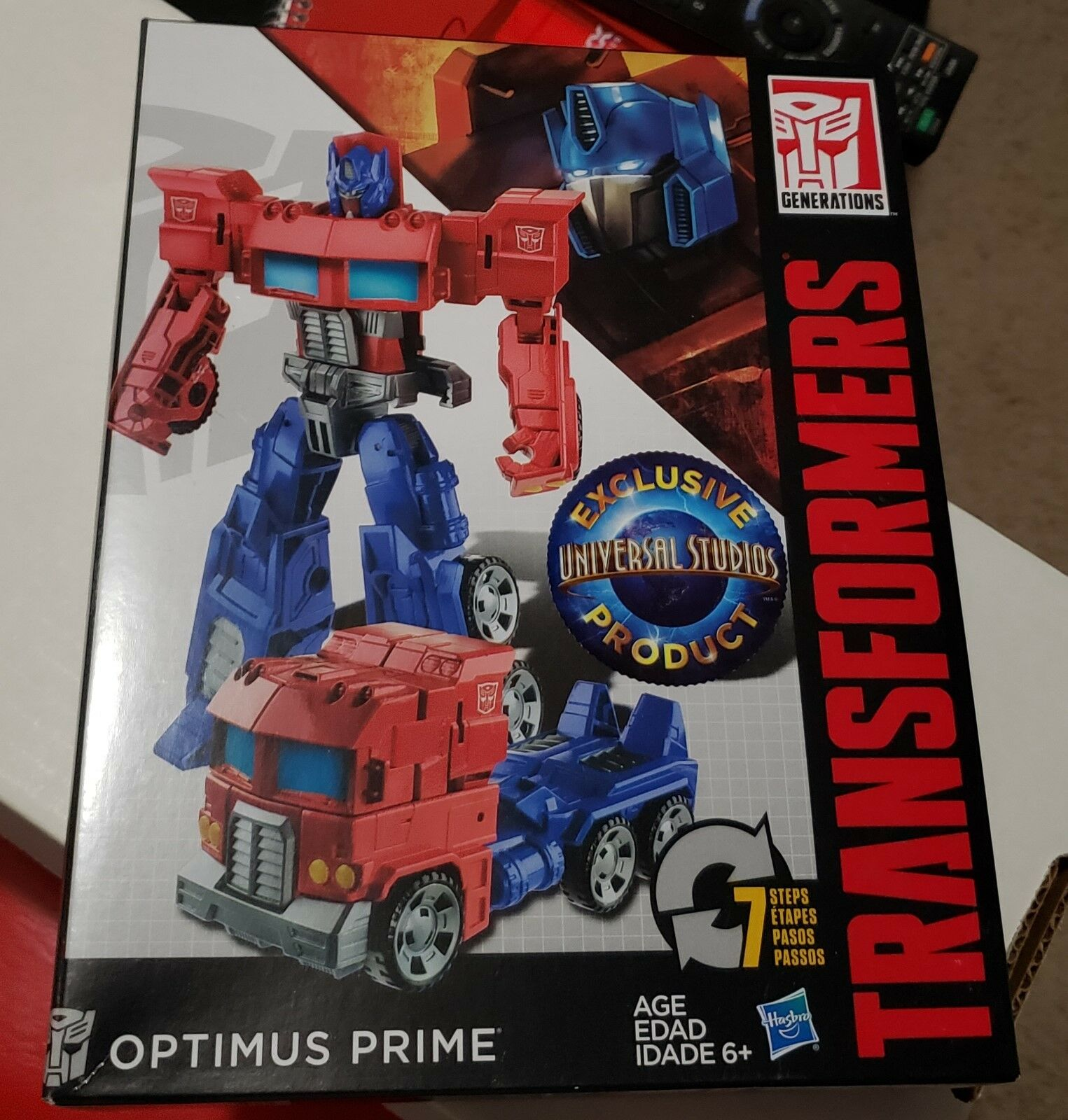 Optimus Prime Transformers Generations Universal Studios Exclusive Figure