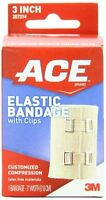 Ace Elastic Bandage With Clips, 3 Inch, 1 Each on Sale