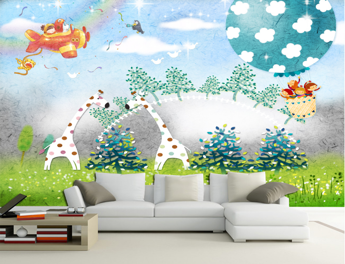 3D Giraffe 564 Wallpaper Murals Wall Print Wallpaper Mural AJ WALL AU Kyra