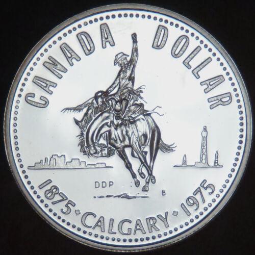Canada Commemorative Silver Dollar 1975 Calgary Centennial   #180251