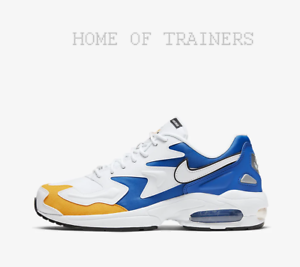 Nike-Air-Max2-Light-Premium-White-University-Gold-Royal-Men-039-s-Trainers-All-Sizes