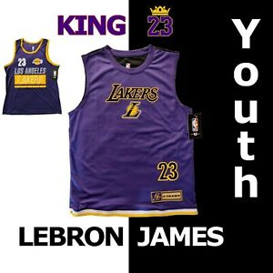 Boys-Lebron-James-Los-Angeles-Lakers-034-23-034-NBA-Youth-Jersey-Purple-VXY8650S-1283S