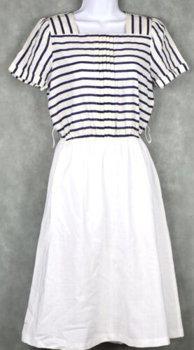 Vintage No Brand White And Blue Dress Lot Size 12 - image 1