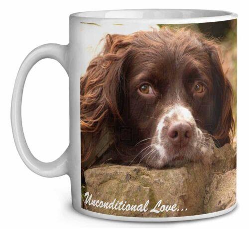 Springer Spaniel /'Unconditional Love/' Coffee//Tea Mug Christmas Stocki AD-SS1uMG