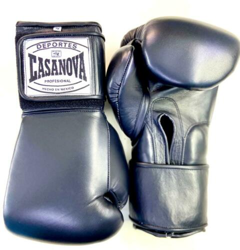 Casanova Leather 14 Ozs Black Hook /& Loop Boxing Gloves Original  Made in Mexico