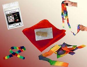 Magic Tricks -Thumb Tip Silk Streamer Kit (Small)- Sale!