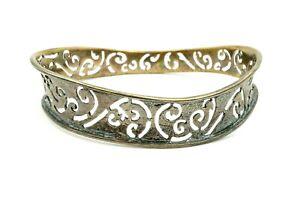Silpada-Sterling-Silver-Wavy-Oxidized-Scroll-Cutout-Bangle-Bracelet-B2082