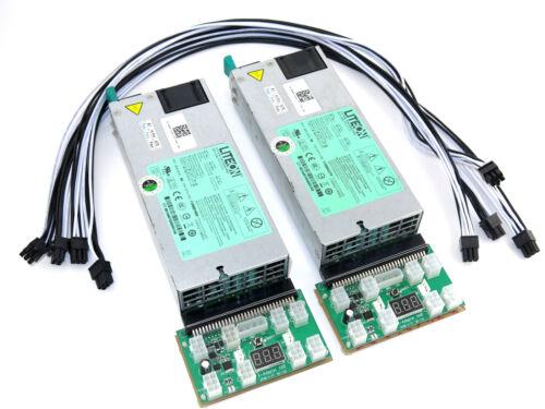 FusionSilicon X7 Miner Power Supply 2200 Watt 2x1100 110-240V PSU 80 Gold ...