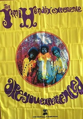 Vintage Poster Jimi Hendrix Tapestry Banner Are You Experienced Pin-Up Textile