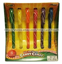 CRAYOLA* 6pc Candy Canes COLOR YOUR MOUTH 3 oz Box HOLIDAY/CHRISTMAS Exp. 5/18