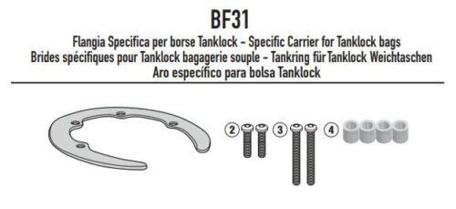 Tankadapter BF31 für BMW G 310 R 2017 GIVI Easy Lock Tankring