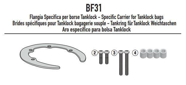 Brida MET/ÁLICA BF36 ESPECIFICACI/ÓN X Tanque Lock GIVI Bolsa
