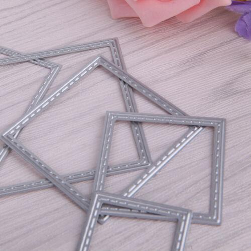 7 Pcs Square Metal Cutting Dies Stencils Set DIY Scrapbook Album Paper Card Set