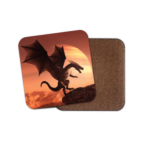 Superbe Dragon Coaster-Mythique Saint George Fantasy Gamer Cool Cadeau #16487