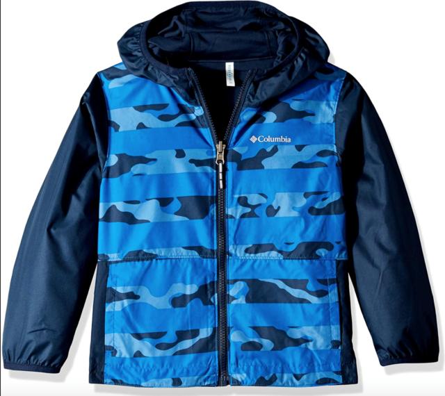 "New Columbia Boys /""Big Jump II/"" Omni-Wick Water resistant Rain Wind Jacket"