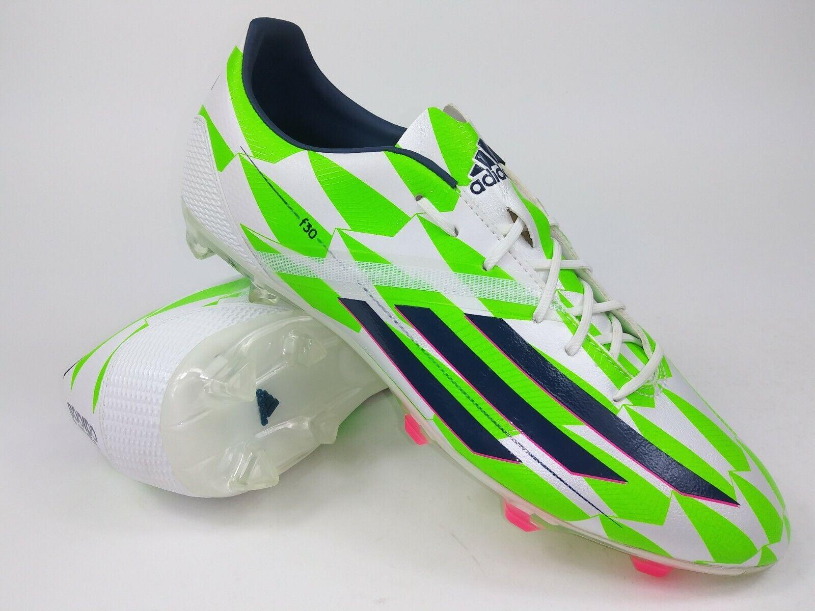 e1eb66871 Adidas Mens Rare F30 FG M17625 Green White Soccer Cleats Football Boots  Size 10
