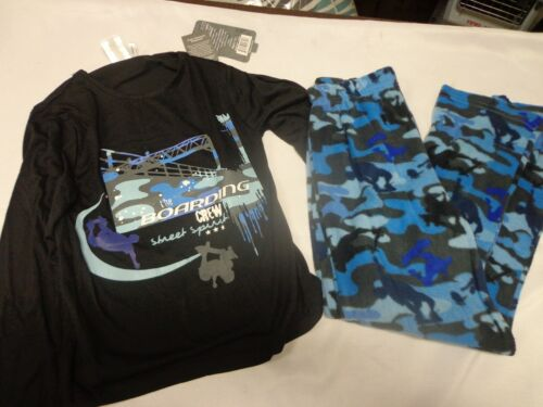16//18 12//14 New Boys Boarding Crew Micro Fleece 2 piece pajama set size 8//10