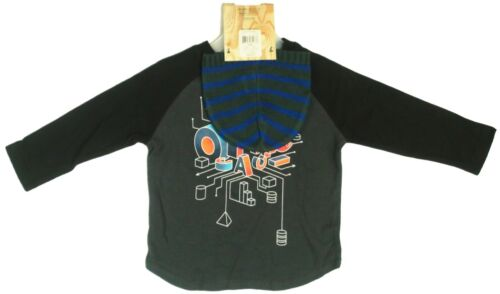 Op Ocean Pacific Toddler Boys LS T-shirt Tee 3D Graphic Shapes Beanie Hat 24m-4T