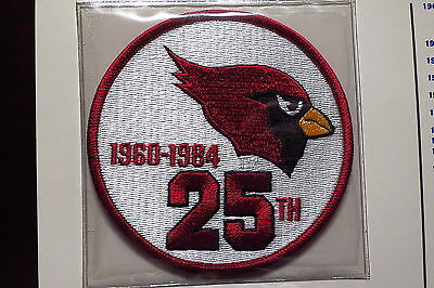 Willabee Ward St Louis Cardinals 25th Anniversary Patch ONLY 1984