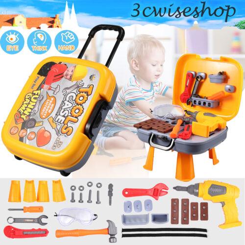 Kinderwerkbank Werkzeug Kinder Spielzeug Werkstatt Werkzeugbank Koffer 33Zubehör