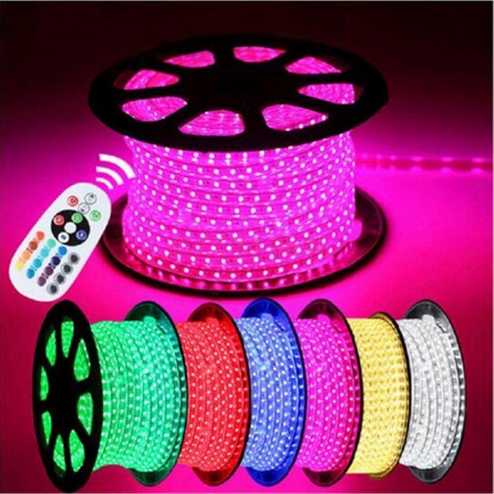 110V 220V RGB LED Strip Light multi Farbe Waterproof 5050 LED Rope string Light
