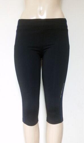LORNA JANE Women's Distinct 3/4 Tight Black w/ Royal Blue trim MSRP $89.99