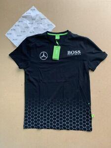 New-Men-Hugo-Boss-Green-Alex-Thomson-Racing-Mercedes-T-Shirt-Black-Size-M