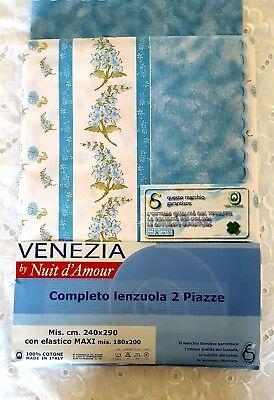 Lenzuola Matrimoniali Vintage.Savoltex Venezia By Nuit D Amour Lenzuola Matrimoniale Vintage
