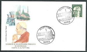 1980 Vaticano Viaggi Del Papa Germania Altotting - Rm1